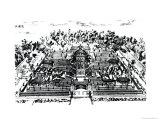 Gardens of Yuan Ming Yuan, Peking, 1783-86 Giclee Print by Giuseppe Castiglione