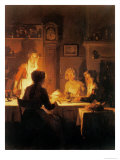 The Evening Meal, circa 1900 Giclee Print by Joseph Bail