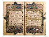 Two Pages from a Koran Manuscript Digitálně vytištěná reprodukce