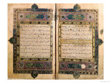 Two Pages from a Koran Manuscript Giclee Print