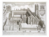 "Magdalen College, Oxford, from ""Oxonia Illustrata,"" Published 1675 Giclee Print by David Loggan"