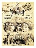 """Poster Advertising """"La Vie Parisienne,"""" an Operetta by Jacques Offenbach 1886 Reproduction procédé giclée par Jules Chéret"""