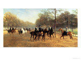 The Morning Ride, Rotten Row, Hyde Park, 1894 Giclee Print by Heywood Hardy