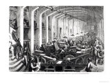 General Printing Works of Charles Lahure, View of the Machines&#39; Gallery Printing the Magazine Giclee Print by Gustave Dor&#233;