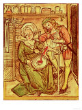 "Blood Letting, from ""Tractatus De Pestilencia"" Reproduction procédé giclée par M. Albik"