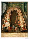 The Banquet at Casa Nani, Given in Honour of Their Guest, Clemente Augusto Giclee Print by Pietro Longhi
