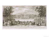 View of the Fountain of Neptune, Versailles Giclee Print by Jacques Rigaud