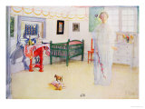 "Illustration of a Ghost or an Angel, from ""En Plein Soleil,"" 1910 Premium Giclee Print by Carl Larsson"