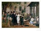 Tony Robert-fleury - Philippe Pinel Releasing Lunatics from Their Chains at the Salpetriere Asylum in Paris in 1795 Digitálně vytištěná reprodukce