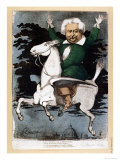 Caricature of Alexandre Dumas Pere as a Musketeer, Illustration from &quot;La Marotte,&quot; 1868 Giclee Print by G. Chanoine