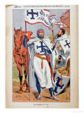 "The Knights Templar, Illustration from ""Histoire De France"" by Jules Michelet circa 1900 Giclee Print by Louis Bombled"