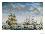 Whaling, Late 18th Century Giclee Print
