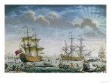Whaling, Late 18th Century Premium Giclee Print