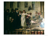 Philippe Pinel Releasing Lunatics from Their Chains at the Salpetriere Asylum in Paris Giclée-Druck von Tony Robert-fleury