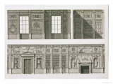 Elevation of the Library at Syon House, circa 1760-69 Giclee Print by Robert Adam