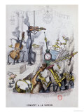 "The Steam Concert,"" Caricature of Modern Music from ""Un Autre Monde,"" 1844 Giclee Print by  Grandville"