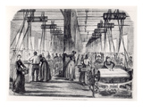 Spinning Workshop of the Widow Gehin in Saulxures, from &#39;L&#39;Illustration&#39;, July 1862 Giclee Print by  French