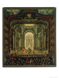 The Teatro Reale in Turin Giclee Print by Pietro Domenico Oliviero
