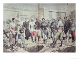 French Legionnaires in Morocco at a Burial, Illustration from &quot;Le Pelerin,&quot; 25th August 1907 Giclee Print by Eugene Damblans