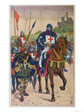 Departing for the Crusades, Illustration from &quot;Histoire De France&quot; by Jules Michelet circa 1900 Giclee Print by Louis Bombled