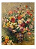 Georginer Giclée-tryk af Pierre-Auguste Renoir