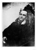 Charles Baudelaire Seated in a Louis XIII Armchair, 1855 Giclee-trykk av  Nadar