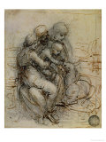 Virgin and Child with St. Anne Premium Giclee Print by  Leonardo da Vinci