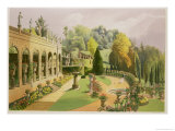 "Alton Gardens, from ""The Gardens of England,"" 1857 Giclee Print by E. Adveno Brooke"