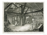 "Glassmaking Factory, from the ""Encyclopedia"" Giclee Print by Radel"