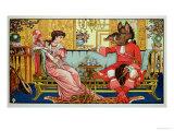 "Illustration from ""Beauty and the Beast,"" circa 1900 Lámina giclée por Crane, Walter"