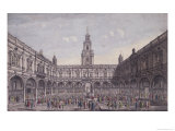 The Inside View of the Royal Exchange, London Giclee Print by Thomas Bowles
