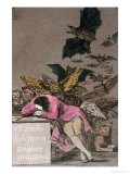 "The Sleep of Reason Produces Monsters, Plate 43 of ""Los Caprichos,"" Published circa 1810 Reproduction procédé giclée par Francisco de Goya"