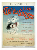 "Poster Advertising the Book ""La Vraie Clef Des Songes"" by Lacinius, 1892 Giclee Print by Jules Chéret"