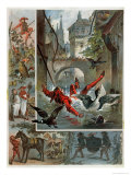 Illustration for Till Eulenspiegel Story by Richard Strauss circa 1860-80 Giclee Print by Carl Offterdinger