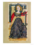"Justice, Tarot Card from the ""Charles Vi"" or ""Gringonneur"" Deck Giclee Print"