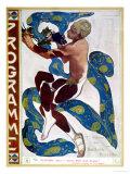 "Nijinsky's Faun Costume in ""L'Apres Midi D'Un Faune"" by Claude Debussy Giclée-trykk av Leon Bakst"