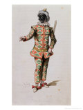 "Harlequin from ""Masques Et Bouffons"" Giclee Print by Baron Dudevant Jean Francois Maurice Sand"