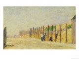 Pushing in the Poles, circa 1882 Giclee Print by Georges Seurat
