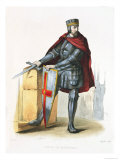 Simon De Montfort Illustration from &quot;Le Plutarque Francais&quot; by E. Mennechet, 1835 Giclee Print by Langlois 