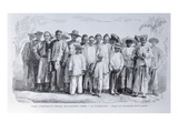 Types of Chinese Immigrants as Free Workers in Guadeloupe, from &#39;L&#39;Illustration&#39;, January 1860 Giclee Print by  French