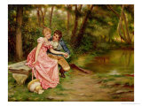 The Lovers Giclee Print by Joseph Frederic Soulacroix