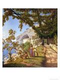 View of Capri Giclee Print by Theodore Caruelle D' Aligny