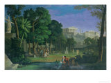The Philosopher's Garden, Athens, 1834 Giclee Print by Antal Strohmayer