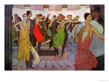 "Paris by Night, a Dance Club in Montmartre, from ""L'Amour Et L'Esprit Gaulois"" Premium Giclee Print by Manuel Orazi"