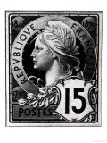 Postage Stamp Depicting Marianne, the Official Representation of the French Republic, circa 1893 Giclee Print