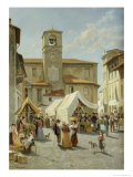 Marketday in Desanzano Giclee Print by Jacques Carabain