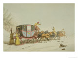 Carriage on Sledges, Etched, Published 1803 Reproduction procédé giclée par John Augustus Atkinson