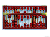 Abacus with the Numbers 0205847326212 Giclee Print by  Chinese School