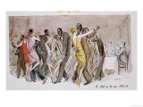 "Reproduction of ""The Ball at the Rue Blomet,"" December 1929 Giclee Print by Sem"