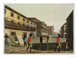 Liveried Slaves Carrying a Sedan Chair, Brazil, from &quot;Le Costume Ancien Et Moderne&quot; Giclee Print by Paolo Fumagalli